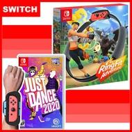 【現貨供應】NS 任天堂 Switch 健身環大冒險同捆組+Just Dance 舞力全開 2020 (中文版)+手腕帶