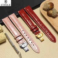 Watch Band Citizene Male Genuine Leather Strap
