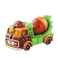 【領券折$120】小禮堂 迪士尼 奇奇蒂蒂 TOMICA多美小汽車 松果水泥車 玩具車 模型 兒童玩具 (DM-16 棕綠)