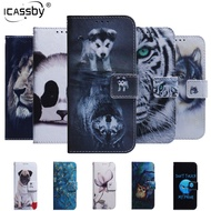 For Etui Samsung Galaxy A51 Case Wolf Panda Magnetic Flip Wallet Cover For Samsung Galaxy A 51 A51 Coque Phone Cases A51 Fundas