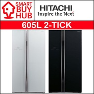 HITACHI R-S705P2MS 605L SIDE-BY-SIDE DOOR FRIDGE (2 TICKS)