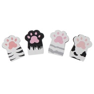 NIHAI 4pcs/Set Cat Paw Magnetic Bookmarks Books Marker of Page Stationery School
