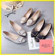 รองเท้าหนัง รองเท้าคัชชู รุ่นกริตเตอร์แบบใหม่ ใส่สบายใส่ทำงาน สำหรับผู้หญิง G002 รองเท้าแฟชั่น