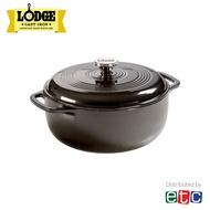 Lodge 6 Quart Midnight Chrome Enameled Cast Iron Dutch Oven