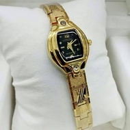 CITIZEN CRYSTAL STYLISH GOLD BLACK WATCH FOR WOMEN
