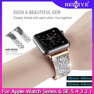 Rhinestones Strap with Diamond Case For Apple Watch Series 6 SE 5 4 3 2 1 Women Wristband for Apple Watch Band 42mm 44mm 40mm 38mm