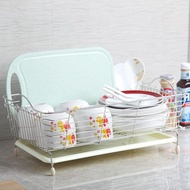 瀝水架不銹鋼水槽洗菜籃子瀝水籃碗碟盤收納架水池置物架廚房用品