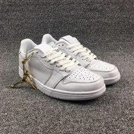 "Air Jordan 1 Low ""Swooshless"" AJ1 低筒 全白配色 872782-100"