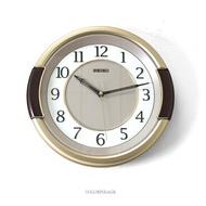 SEIKO精工掛鐘 咖金混色雙圈時鐘【NG35】柒彩年代