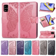 Flower Butterfly Samsung A 51 Flip Cover Leather Wallet Case