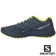 【SALOMON 法國】男 SONIC PRO 2跑鞋『馬拉德藍/硫磺黃/漸層藍』393388