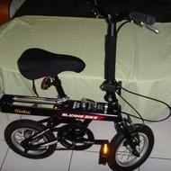 Slidy-Bike 折疊+傳動軸伸縮腳踏車(12吋)