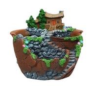 เรซิ่นสร้างสรรค์พืชหม้อสำหรับกระถางดอกไม้สำหรับปลูกไม้อวบน้ำ DIY ภูมิทัศน์สวนขนาดเล็กสำหรับสวนกระถางดอกไม้สำหรับปลูกไม้อวบน้ำการงอกแจกัน