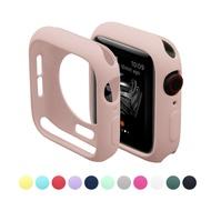 เคสซิลิโคนอ่อนนุ่มสำหรับ Apple Watch 5/4/3/2/1 สีสันปกคลุมสำหรับ I WATCH 38mm 42mm 40mm 44mm Smart Watch ประดับ