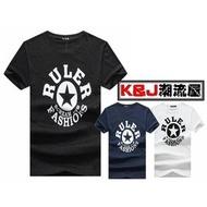 ★K&J★潮流RULER五角星印花設計短T 3色 【M10003】