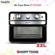 INNOFOOD Air Fryer Oven KT-CF22M (22L) Dehydrator Function Innovative Frying Baking Dehydrating Large All in One Fryers Double Glass Door