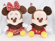 X射線【C572957】米奇Mickey米妮Minnie 10吋坐姿,絨毛/填充玩偶/玩具/公仔/抱枕/靠枕/娃娃
