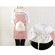 Apron Cooking Apron Red Blue Stripe Canvas Japan Style