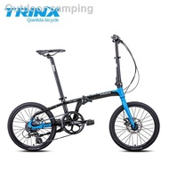 TRINX folding bike 20 inch with Shimano 8-stage variable disc brake aluminum alloy wheel