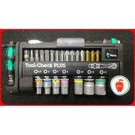 "Wera Tool-Check PLUS 兩分1/4"" 迷你棘輪扳手/彩色套筒/起子組 39件"
