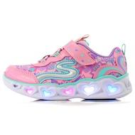 Shoestw【20180NLPMT】SKECHERS Heart Lights 小童鞋 運動鞋 記憶鞋墊 黏帶 LED燈 櫻花粉藍