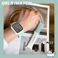 Original สำหรับ Apple 6นาฬิกาซิลิโคนสายคล้องเยื่อหุ้มเหล็กเปลือกหอยการกดปุ่มฉาก Iwatch Joker ApplewatchSE5-1