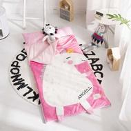 【熱銷】新品 ins多功能兒童防踢被 秋冬加厚寶寶絨大童睡袋嬰兒抱被枕頭可拆洗