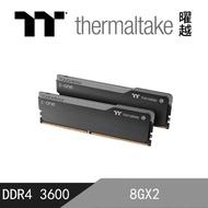 【Thermaltake 曜越】TOUGHRAM 鋼影 Z-ONE 記憶體 DDR4 3600MHz 16GB  8GB x 2(R010D408GX2-3600C18A)