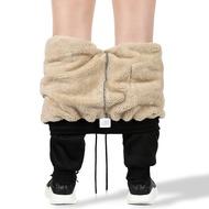 彈性休閒褲 休閒長褲 加絨加厚男士褲子潮流青年冬季加大碼羊羔絨保暖男休閒運動小腳褲