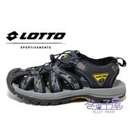 LOTTO樂得-義大利第一品牌 男款冒險者護趾運動涼鞋 [6110] 迷彩黑【巷子屋】