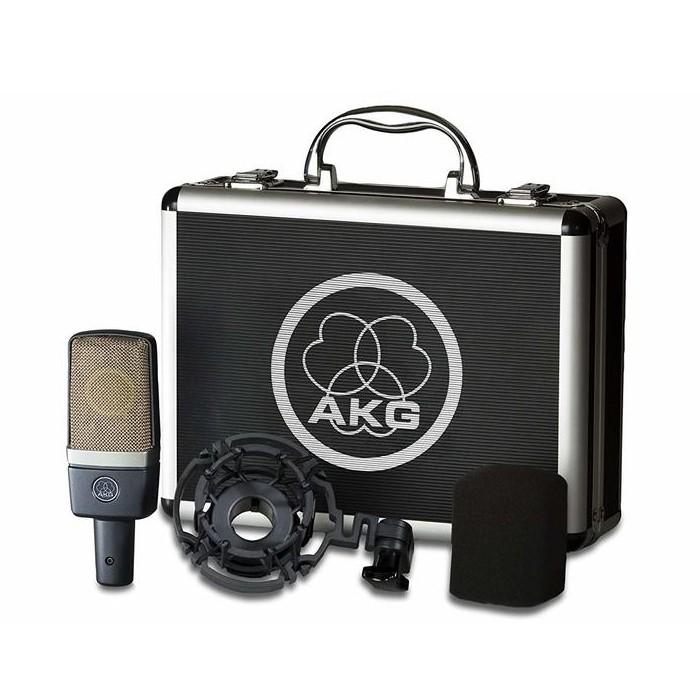 AKG C214經典心型指多功能收音電容式麥克風- 附美製5米MIC線+原廠噴麥罩【音響世界】