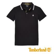 Timberland 男士Millers River 修身版時尚滾邊領 Polo 衫-黑
