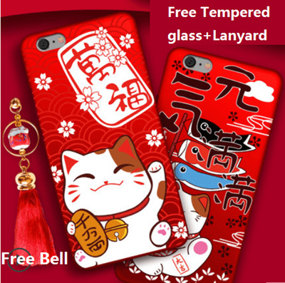 OPPO R11S/R11S Plus、R11/R11 Plus、R9/R9 Plus、R9S/R9S Plus Lucky Cat New Year case cover