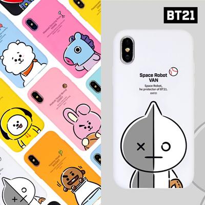 【BT21 x LINE FRIENDS】 BTS BangTan iPhone Galaxy Hang Out Soft Case GIFT!