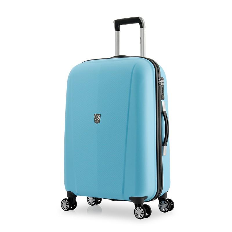 【萬國通路】eminent 極簡風格純彩PP行李箱 20/24/28吋<淡粉藍> 669