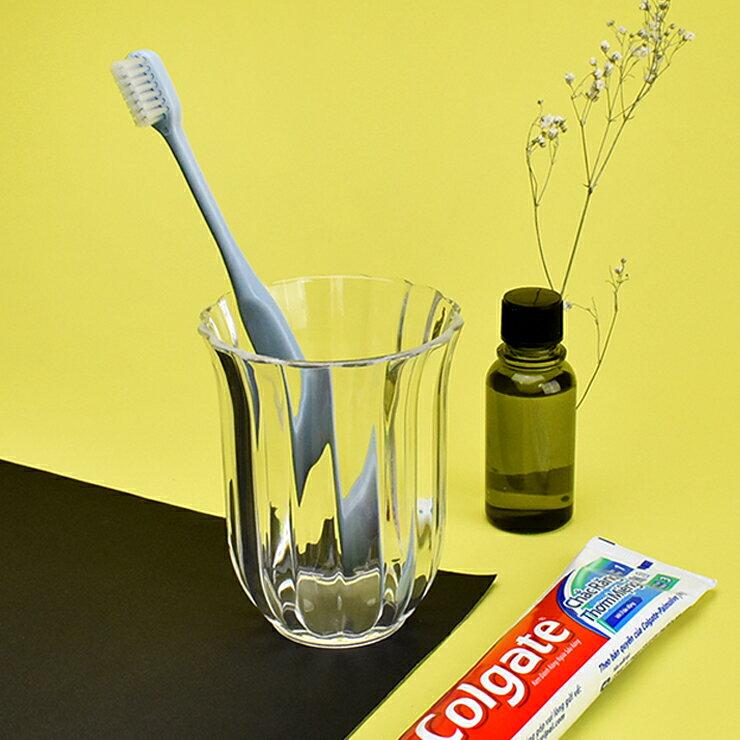 【美的空間】透明壓克力 貝殼紋 牙刷漱口杯收納組-透明 衛浴置物收納 #5952 台灣製 壓克力收納 居家收納