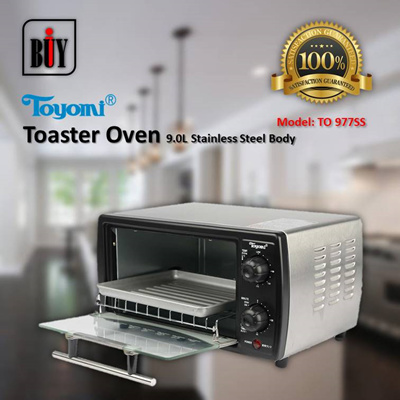 [IBuy] = TOYOMI Toaster Oven S/Steel 9.0L [Model: TO 977SS] 100% Satisfaction / 1 Year Warranty