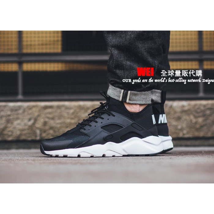 """Wei"" Nike Air Huarache Run Ultra 819685-001 黑武士 三代 黑白 男女"