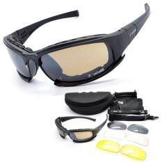 Daisy แว่นตาขี่มอเตอร์ไซค์ แว่นกันแดด Daisy รุ่น X7 เปลี่ยนเลนส์ได้ UV 400 protection มีเลนส์ทั้งหมด 4 สี