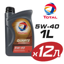 【TOTAL 道達爾】QUARTZ 9000 5W40全合成機油 12瓶組