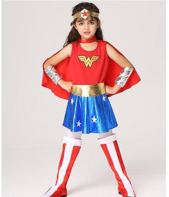 東區派對-  萬聖節服飾,萬聖節服裝,兒童變裝服- 女超人服裝/神力女超人服裝