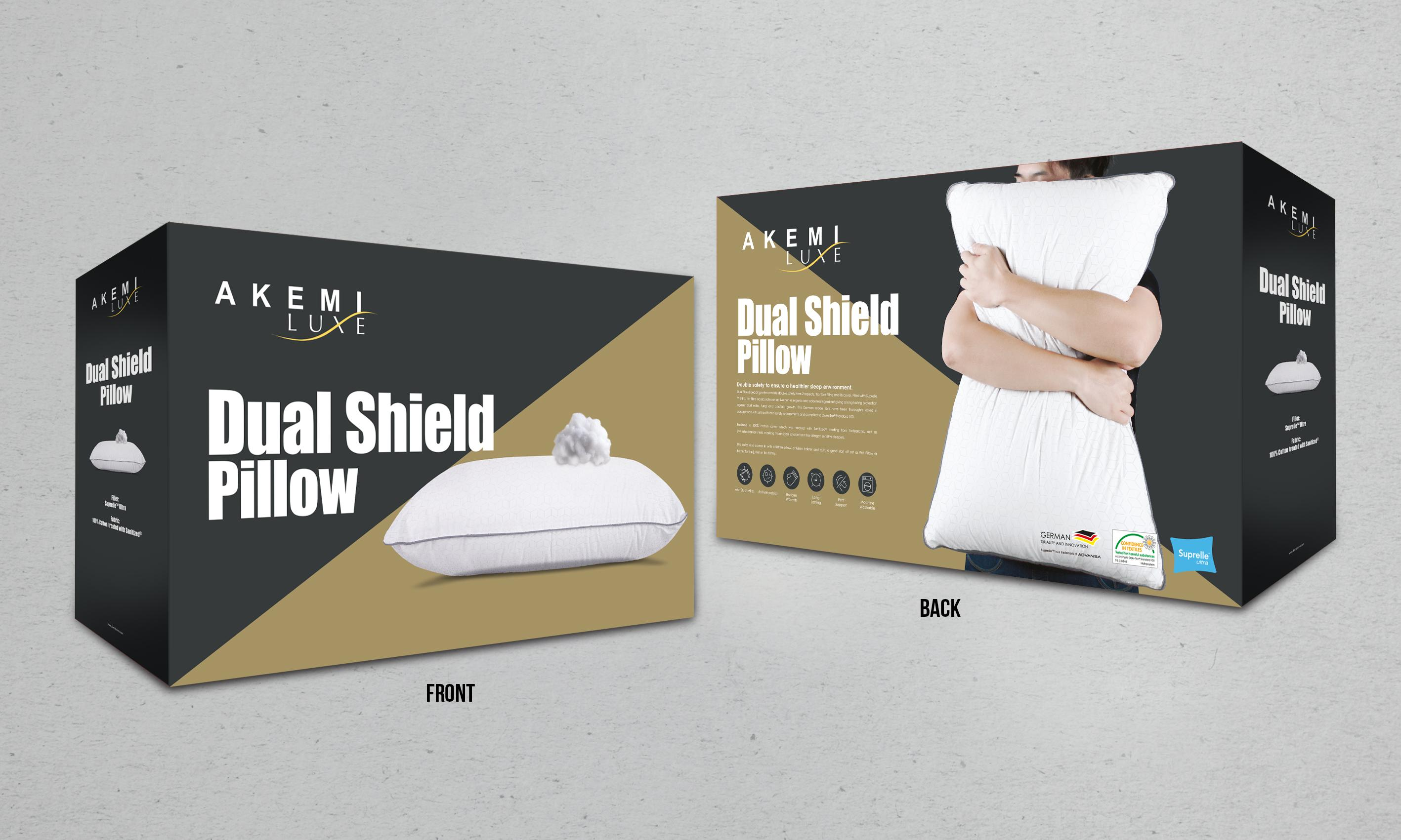 AKEMI Luxe Dual Shield Pillow