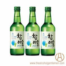Jinro Chamisul Fresh Soju (3 Bottle x 360ml)