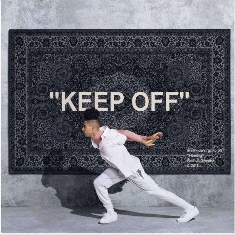 "OFF WHITE x IKEA ""KEEP OFF"" 地毯 200*300"