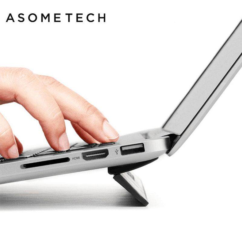 Ergonomic Laptop stand For Macbook air 13.3 Pro Portable adjustable Bureau Computer Lapdesk Office Black PC Notebook Riser Stand