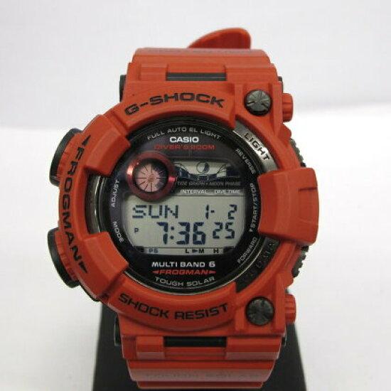 有有G-SHOCK G打擊CASIO卡西歐手錶GWF-1000RD-4JF FROGMAN蛙人人殷鋼寧栅極Men in Burning Red主人of G強壯的太陽能電波太陽能多頻段6數碼潛水青蛙機器蓋爾箱子的說明書的T東大阪商店216606 RY0635 NEXT51