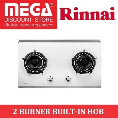 RINNAI RB-72S 2 BURNER BUILT-IN STAINLESS STEEL HOB / LOCAL WARRANTY