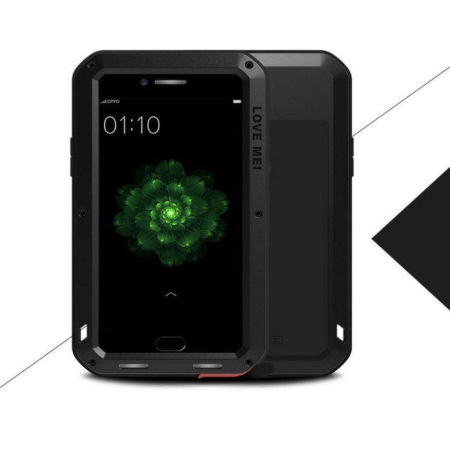 Promotion LOVE MEI Metal Case Shockproof Gorilla Glass For OPPO R11 Plus R11S R9 R15