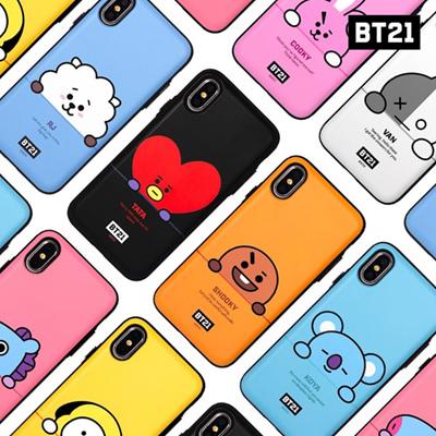 【BT21 x LINE FRIENDS】 BTS BangTan iPhone Galaxy Peekaboo Multi Card Bumper Case