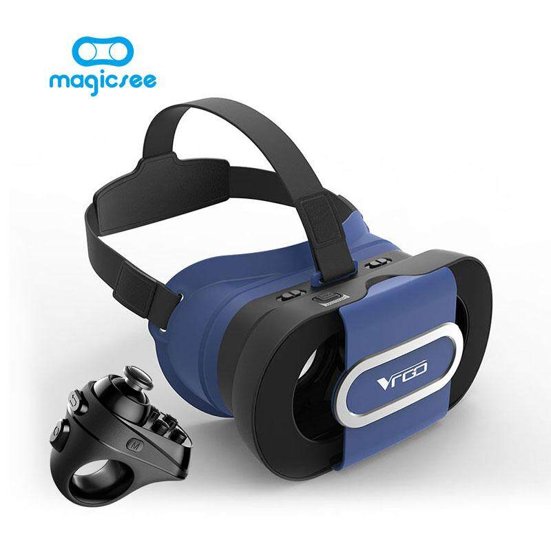 Magicsee VR GO Folding VR Glasses 3D Helmet Virtual Reality For 4.7-6.0 Smartphone+Magicsee R1 Bluetooth Controller